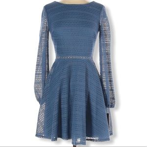 CITY STUDIO Blue Long Sleeve Dress